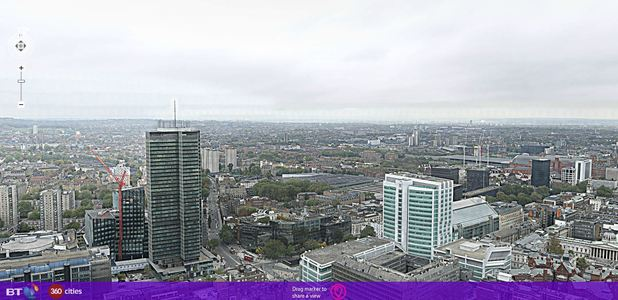 BT Tower London Panorama screenshot