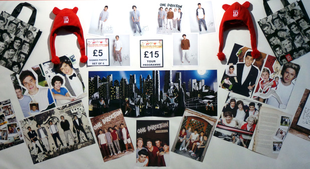 One Direction memorabilia.