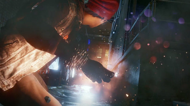 Screenshot from 'Infamous: Second Son' for PS4, featured in a trailer broadcast at the official Playstation 4 anouncement event.