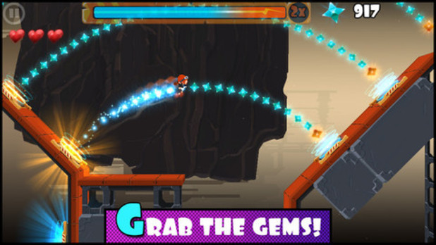 &#39;Rock Runners&#39; mobile screenshot