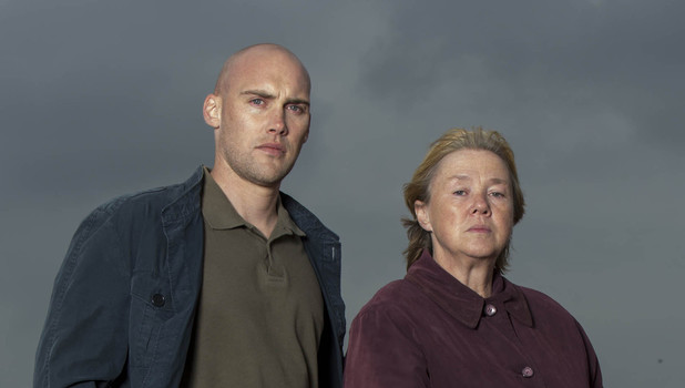 ITV's 'Broadchurch': Joe Sims as Nige Carter and Pauline Quirke as Susan Wright