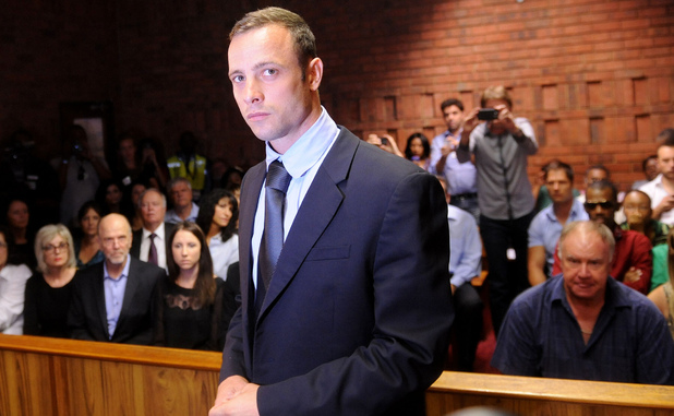 Oscar Pistorius in court in Pretoria for his bail hearing