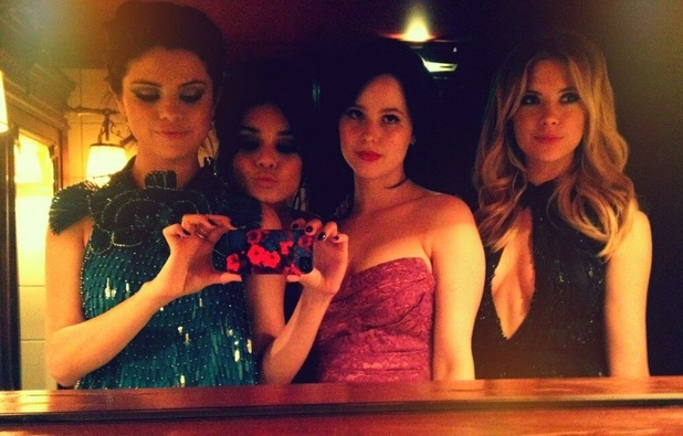 Selena Gomez, Ashley Benson, Vanessa Hudgens and Rachel Korine in a Twitter picture