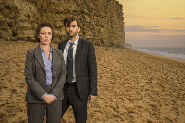 ITV's 'Broadchurch': DAVID TENNANT as D.I Alec Hardy and OLIVIA COLMAN as D.S. Ellie Miller