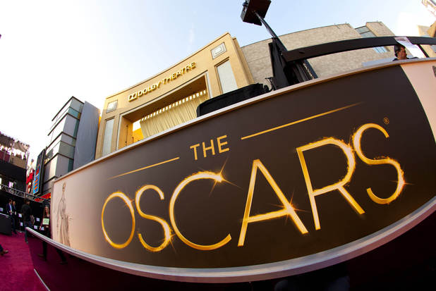 The billboard for the 85th Academy Awards is displayed.