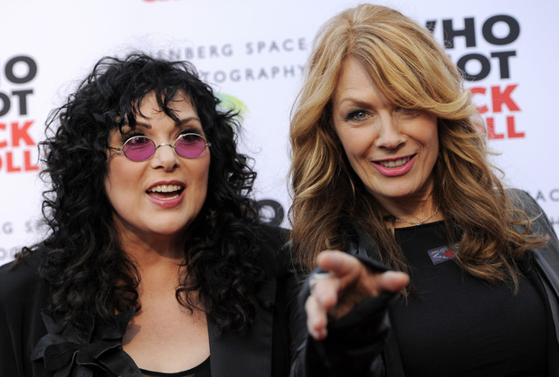 Ann Wilson and Nancy Wilson of the band Heart