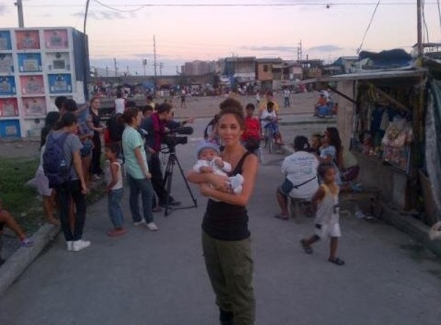 Myleene Klass visits mothers in the Philippines with Save The Children.