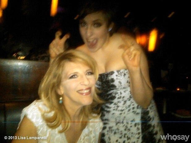 Lisa Lampanelli and Lena Dunham at the WGA Awards