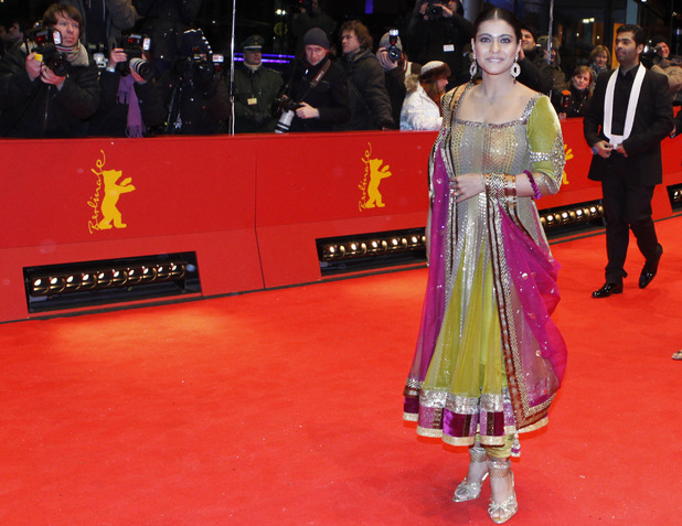 Kajol Devgan arrives at the premiere for the film 'My name is Khan' at the International Film Festival Berlinale in Berlin - February 2010