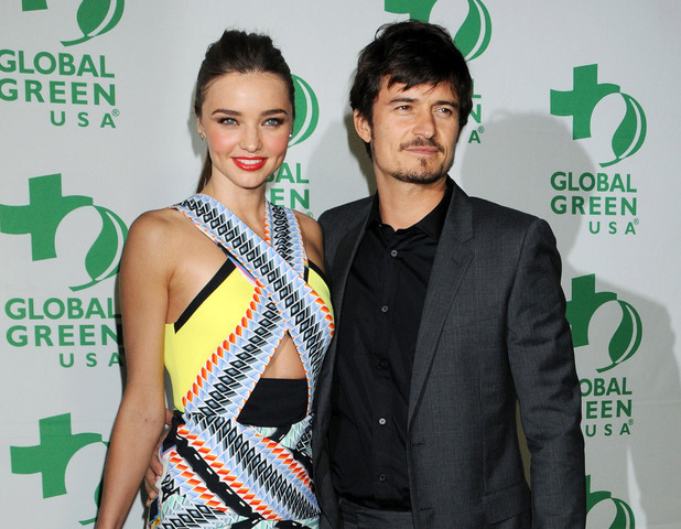 Miranda Kerr, Orlando Bloom, Global Green USA's 10th Annual Pre-Oscar Party, Los Angeles