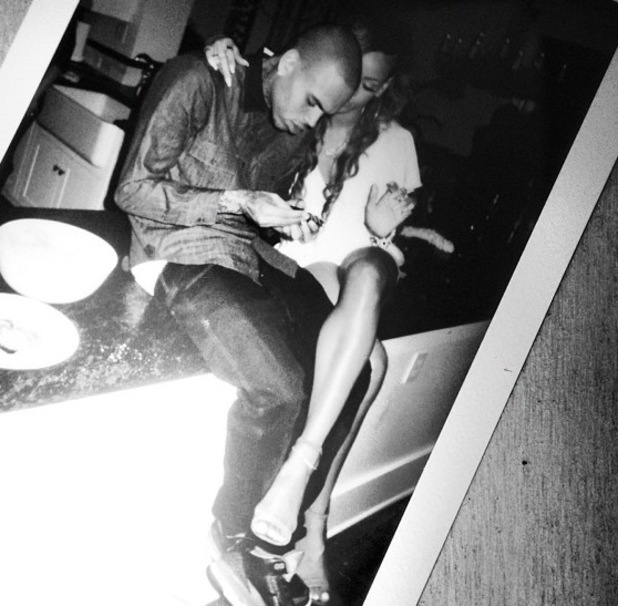 Rihanna rolls birthday blunt with Chris Brown