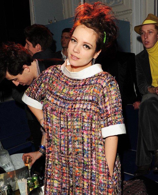 Lily Allen attends the Warner Music Group Post BRIT Party In Association With Samsung at The Savoy Hotel on February 20, 2013 in London, England