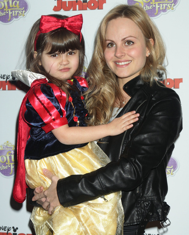 Tina O'Brien and daughter Scarlett