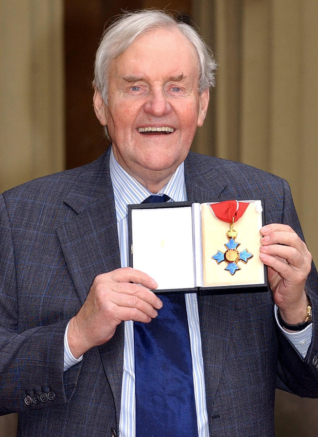 Richard Briers receives his CBE