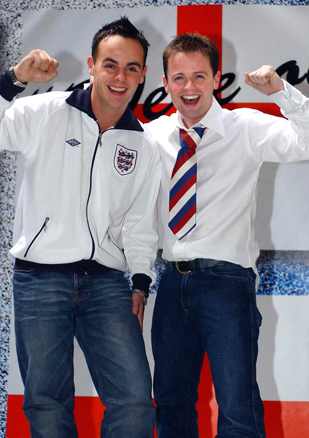 Ant & Dec outside the FA Headquarters