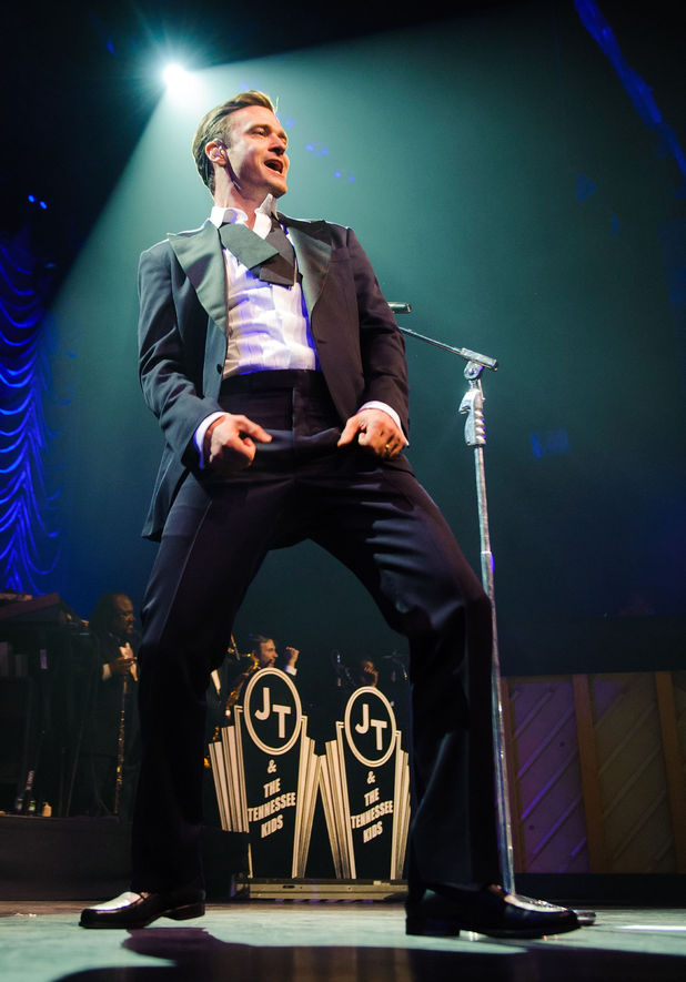 Justin Timberlake, performs at the Brit Awards aftershow party, at the Forum