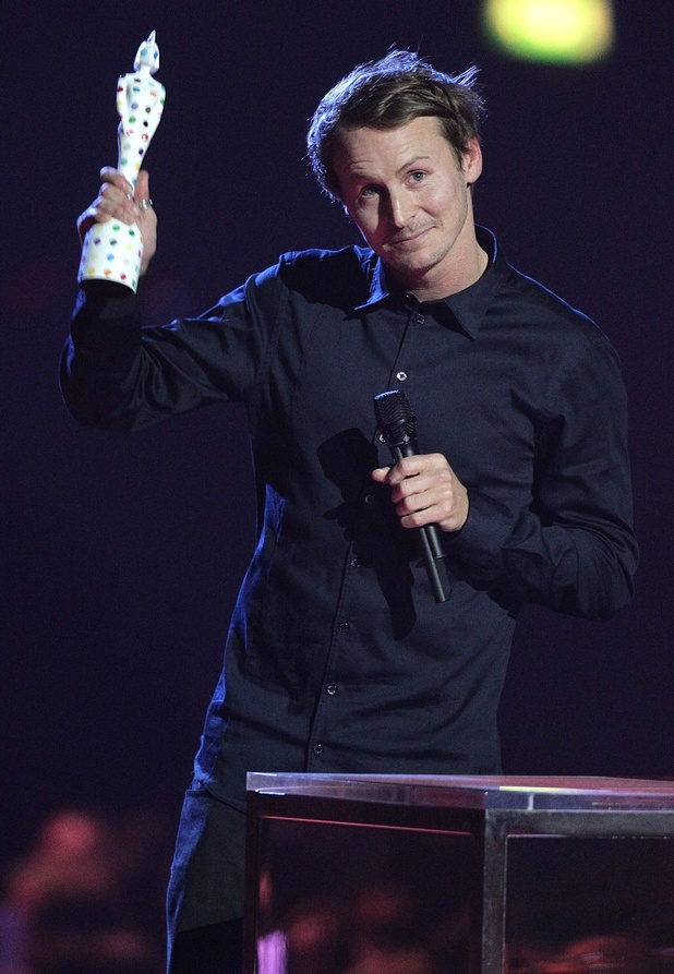 Ben Howard collects the award for British Breakthrough Act during the 2013 Brit Awards at the O2 Arena, London..