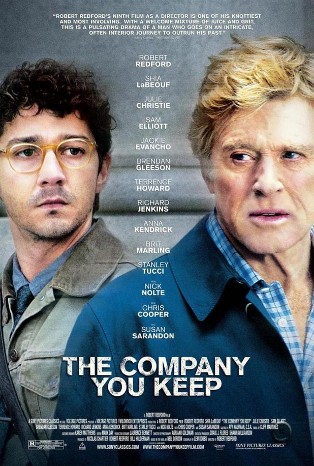 Robert Redford, Shia LaBeouf in 'The Comapny You Keep' poster