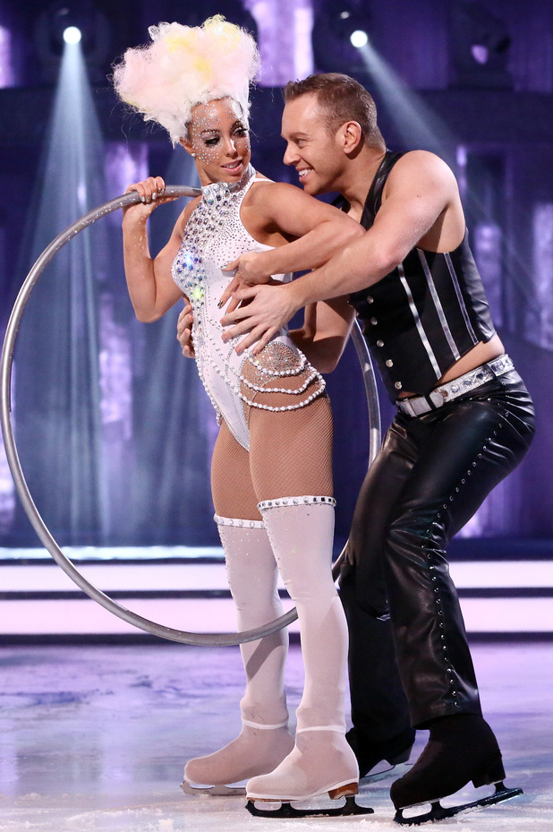 Dancing on Ice: Beth Tweddle and Daniel Whiston with their circus routine.