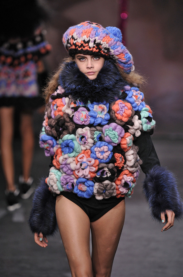 Cara Delevingne, London Fashion Week, Autumn/Winter 2013, Sister by Sibling