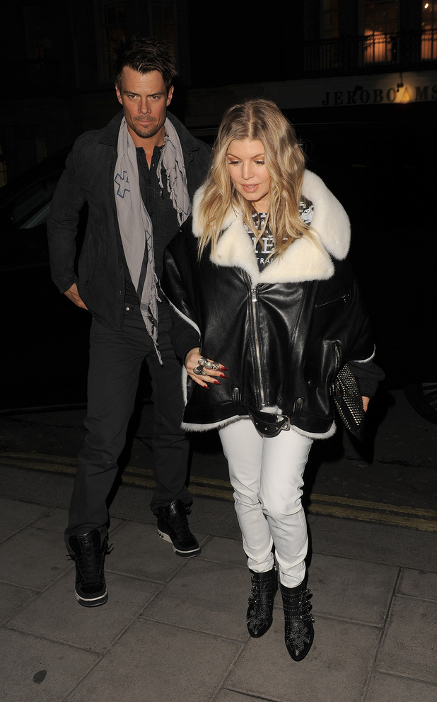 Fergie, Josh Duhamel arrive at C restaurant in Mayfair together.