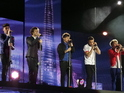 The singer denies One Direction a number one single in the US.