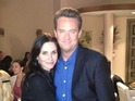Courteney Cox shares images from the set of Matthew Perry's Go On.