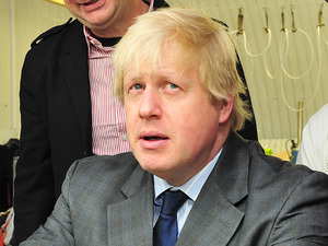 Boris Johnson, East End Manufacturing Ltd clothing factory, London