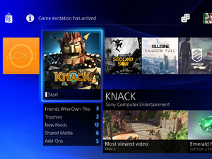 PlayStation 4 menu screens in pictures: The home screen