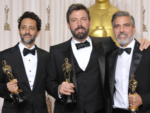 Oscars 2013: Grant Heslov, Ben Affleck and George Clooney - Best Picture (Argo)