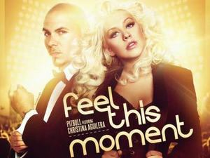 Pitbull ft. Christina Aguilera 'Feel This Moment' artwork
