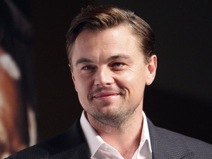 Leonardo DiCaprio poses for a photo call during a press conference for his new film &quot;DJango Unchained&quot;