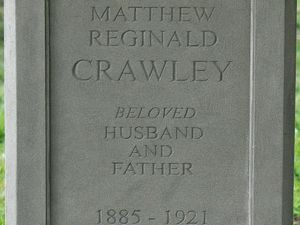 Matthew Crawleys Headstone on set of 'Downton Abbey'
