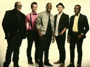 American Idol season 12: Vincent Powell, Lazaro Arbos, Cortez Shaw, Nick Boddington and Burnell Taylor