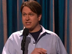 Pete Holmes performing on 'Conan' in 2011