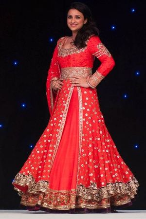 Parineeti Chopra takes part in a fashion show for The Angeli Foundation in London