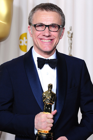 Christoph Waltz with the 'Best Supporting Actor' Oscar