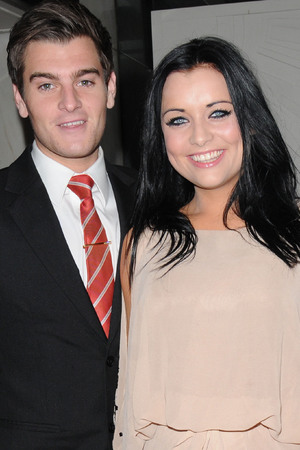 Shona McGarty and Matt Lapinskas David Gest and Patsy Palmer joint birthday party at the Grand Connaught Rooms to raise money for the 'Me&Dee Charity' - Arrivals London, England - 11.05.12 Credit Mandatory: WENN.com