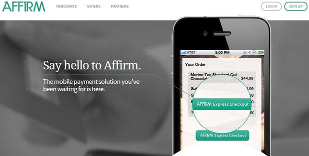 Affirm homepage