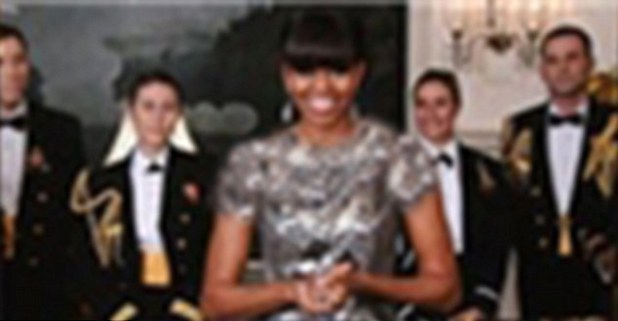 First Lady Michelle Obama presents the Oscar for Best Picture (photoshopped Iran version)
