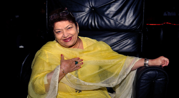 Bollywood choreographer Saroj Khan at actress Sambhavna Seth's birthday party in Mumbai - December 12, 2012