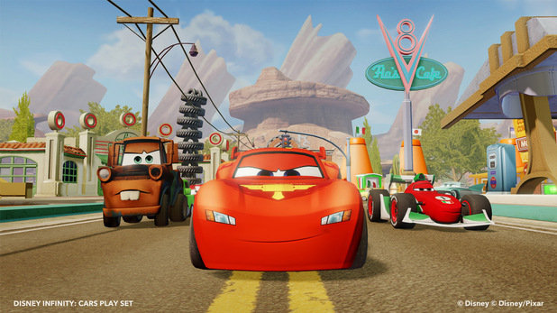 Screenshot showing the Disney Infinity Cars play set