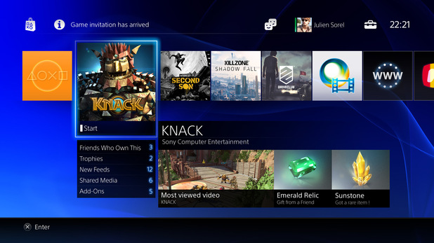 PlayStation 4 Menu screens in pictures