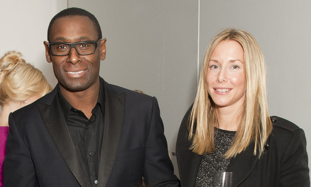 David Harewood and Kirsty Handy attend English National Ballet's Christmas party at St Martin's Lane Hotel - London