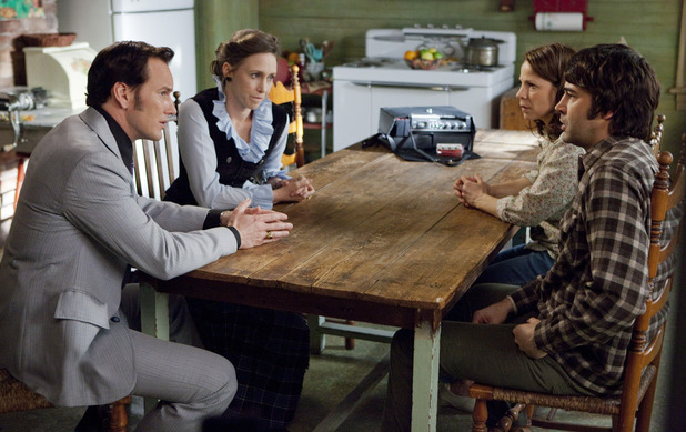 Vera Farmiga (Lorraine Warren), Patrick Wilson (Ed Warren), Lili Taylor (Carolyn Perron), Ron Livingston (Roger Perron) in 'The Conjuring'