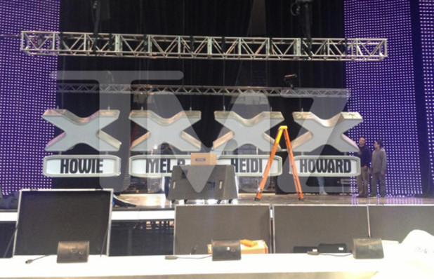 America's Got Talent behind-the-scenes picture featuring Heidi Klum's name