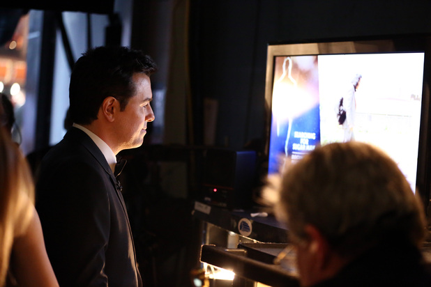 Seth MacFarlane backstage at the 2013 Oscars