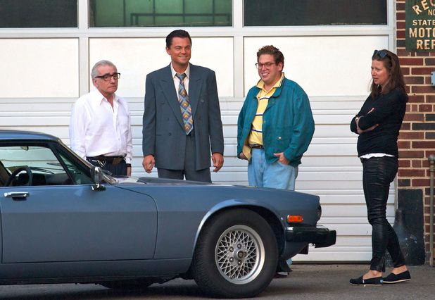'Wolf of Wall Street' filming: Martin Scorsese with Leonardo DiCaprio and Jonah Hill - September 14, 2012