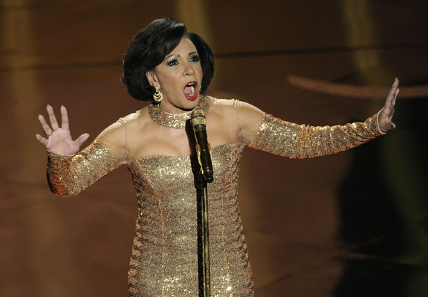 Dame Shirley Bassey performs 'Goldfinger' at the 2013 Oscars