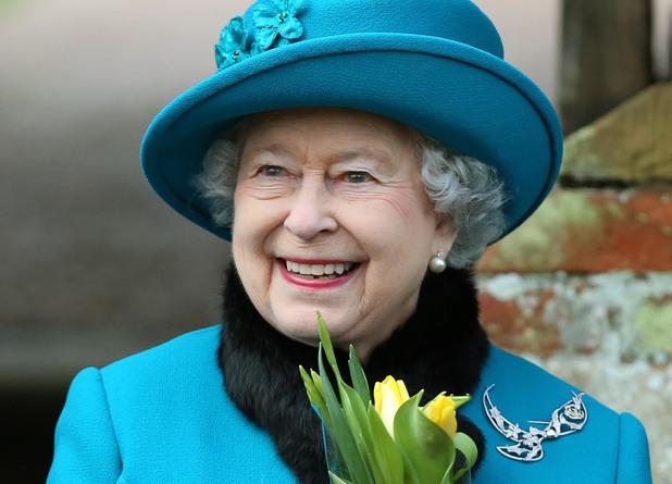 Queen Elizabeth II on Christmas Day 2012.
